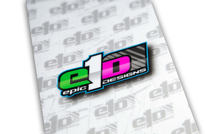 e1D Chassis Armor - 1/10th Scale White with Color Logo