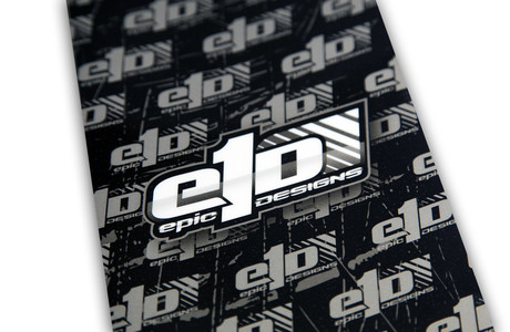 e1D Chassis Armor - 1/10th Scale Black with Mono Logo